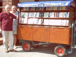 Lions - David and Peter on duty alongside our bookstall.