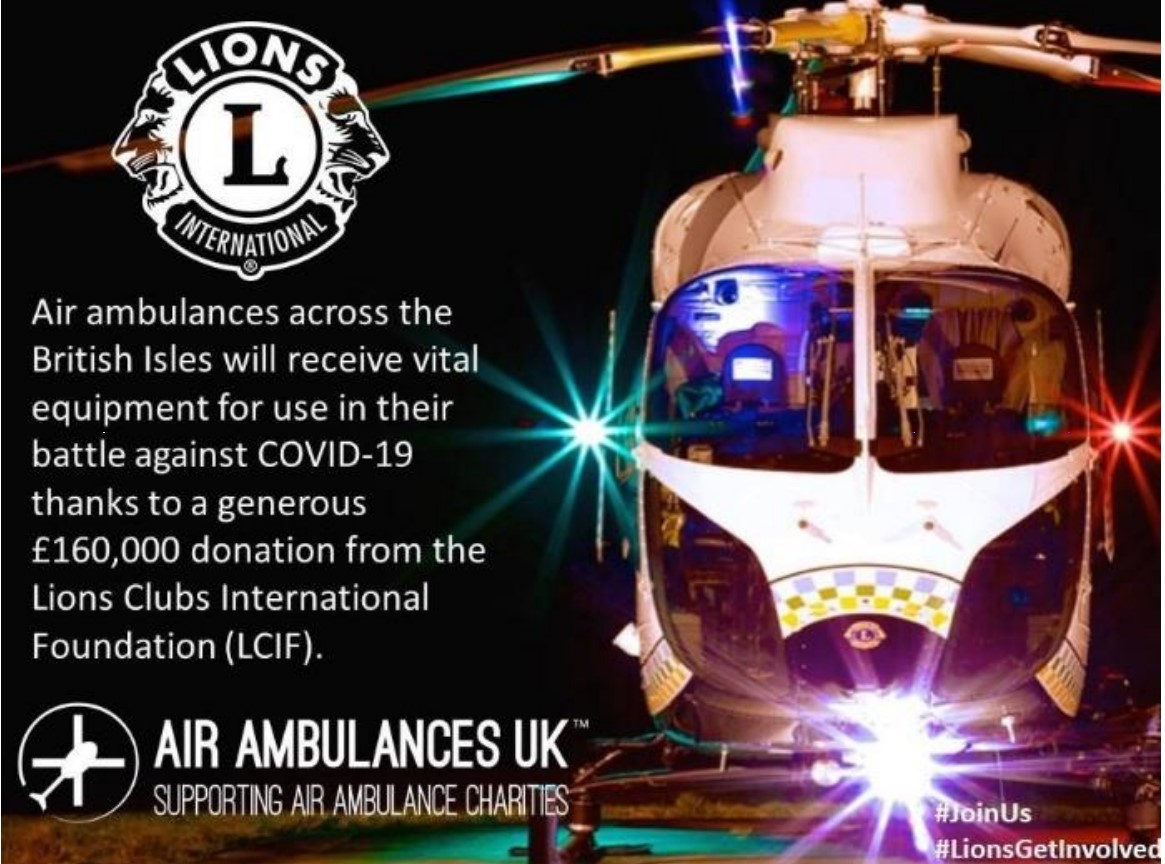 £160,000 for Air Ambulance Services