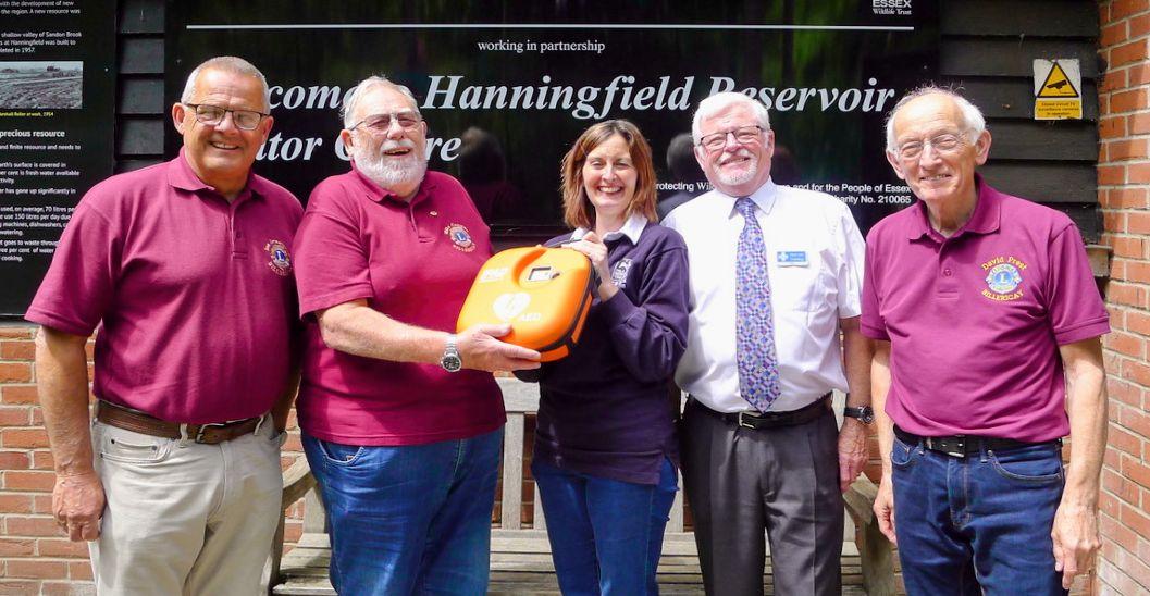 Defibrillator for Essex Wildlife Trust