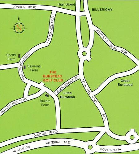 map burstead golf club